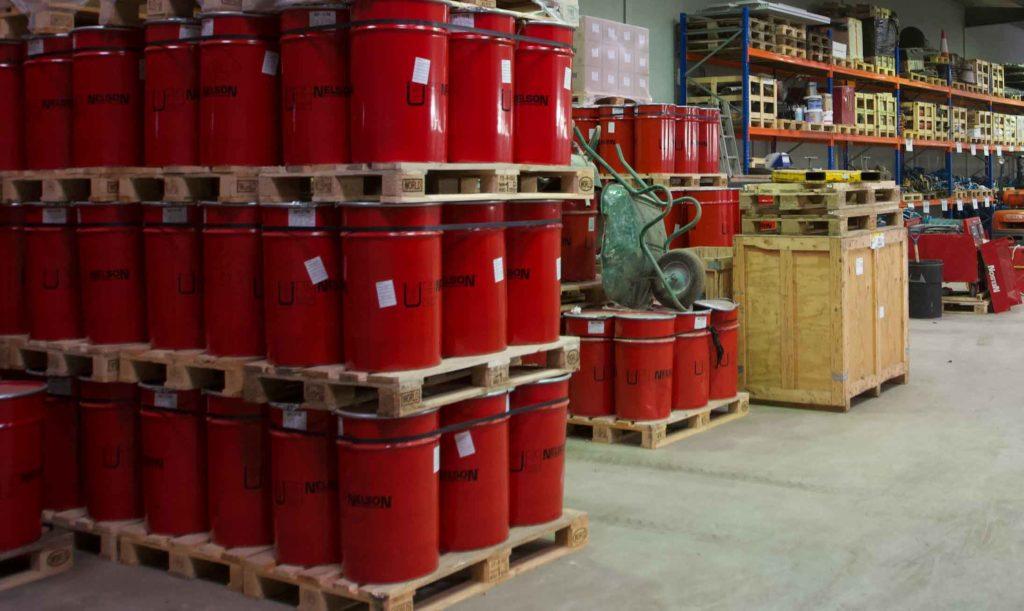 Barrels of shear studs